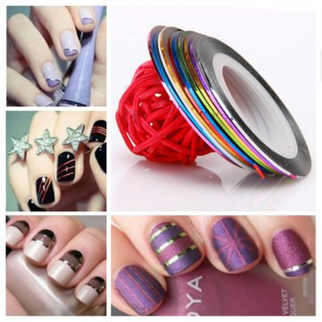 10 Color Striping Tape Line Nail Art Decoration Sticker For Sale In