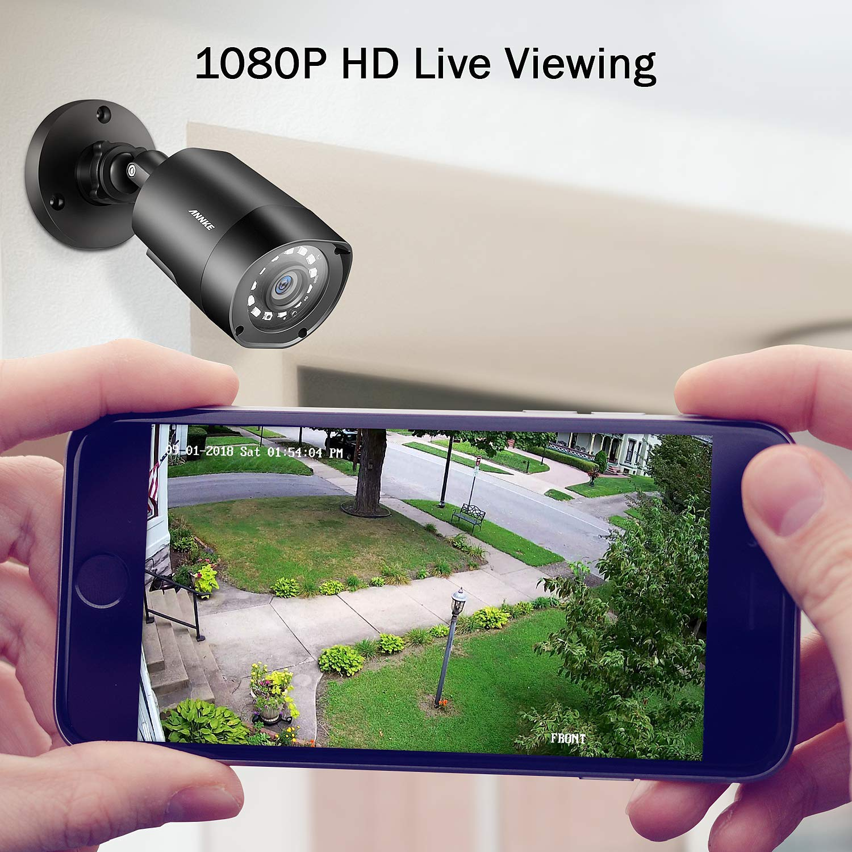 ANNKE 8 Channel 4 1080P 2 0MP WeatherProof HD TVI Bullet Cameras H 264+ DVR  with 1TB Surveillance Hard Disk Drive