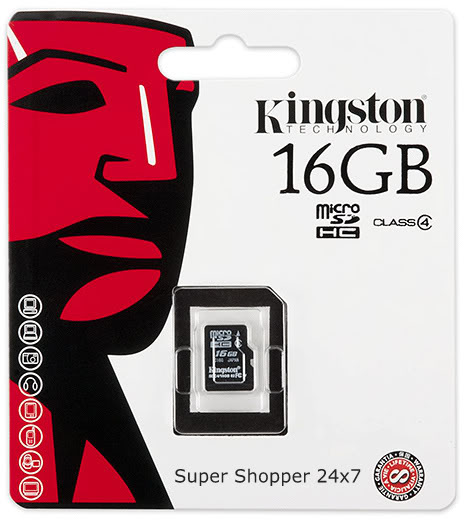 Kingston 16GB Micro SD (Class 4)