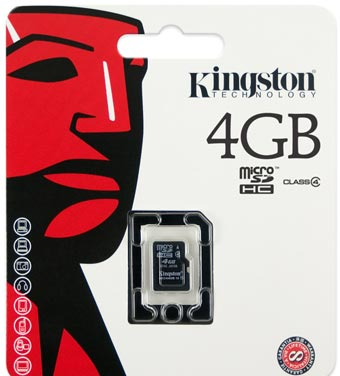 Kingston 4GB Micro SD (Class 4)