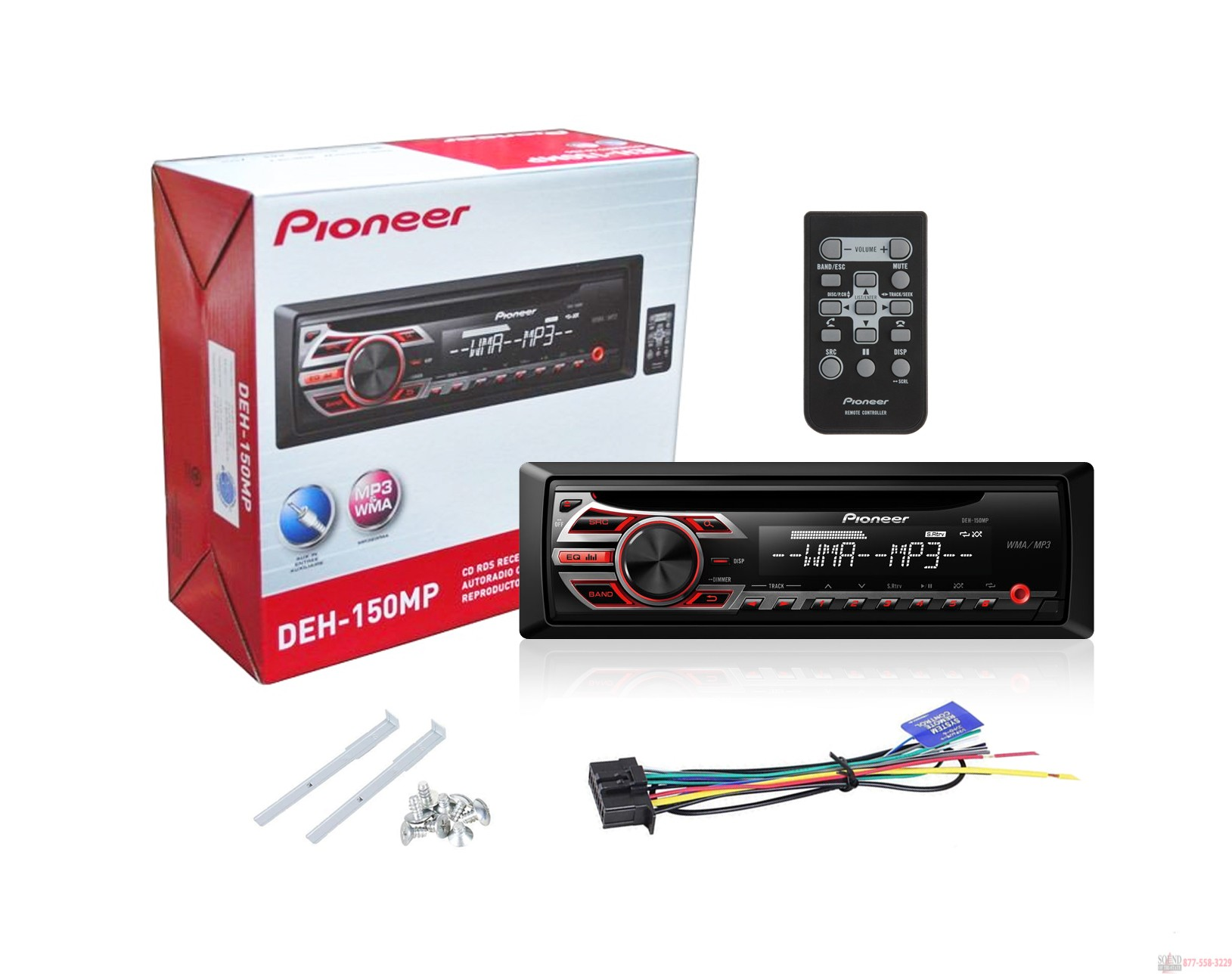 Pioneer DEH 150MP Car Stereo With MP3 Playback in box pioneer stereo wiring diagram pioneer free wiring diagrams pioneer deh-p9300 wiring diagram at mifinder.co