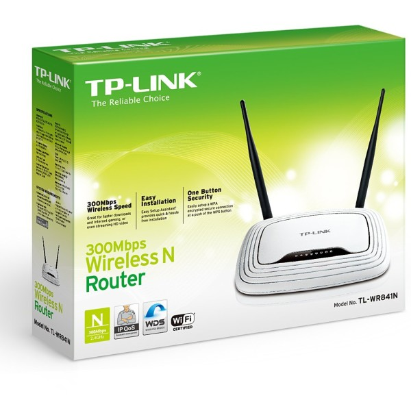TP-LINK TL-WR841N Wireless N300 Home Router, 300Mpbs (boxed)