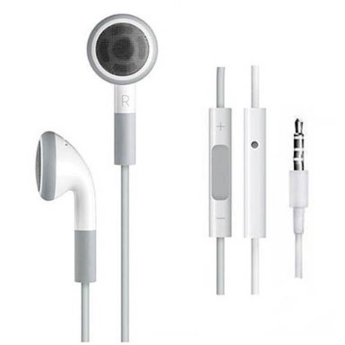 iPhone Earphone with Mic (white, generic)