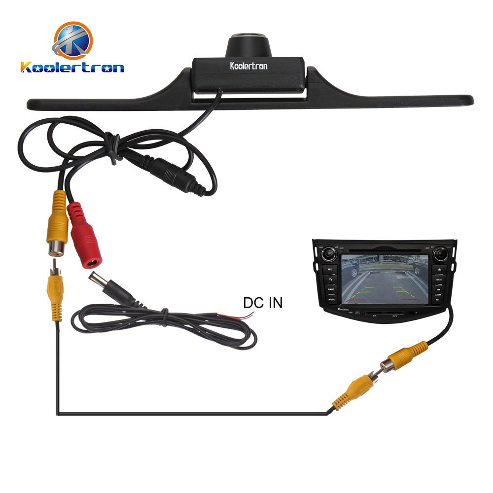 Rear View License Plate Backup Camera By Koolertron on audiovox wiring diagram
