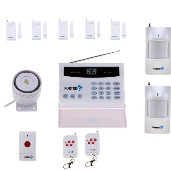wireless home security alarm system diy kit with auto dial
