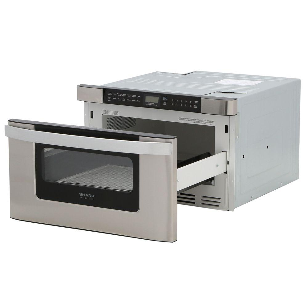 Sharp 24 In W 1 2 Cu Ft Built In Microwave Drawer In Stainless Steel With Sensor Cooking For