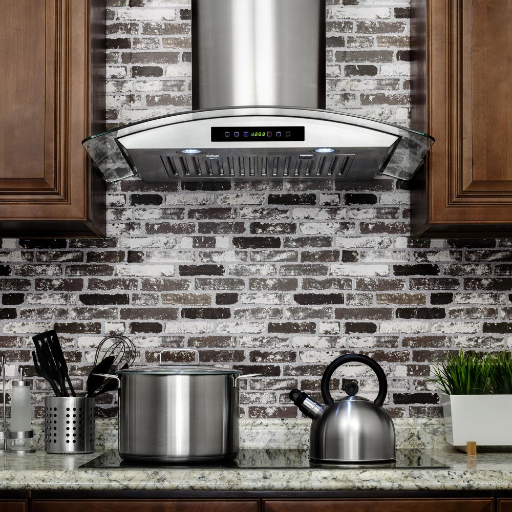 30 In Convertible Wall Mount Range Hood In Stainless
