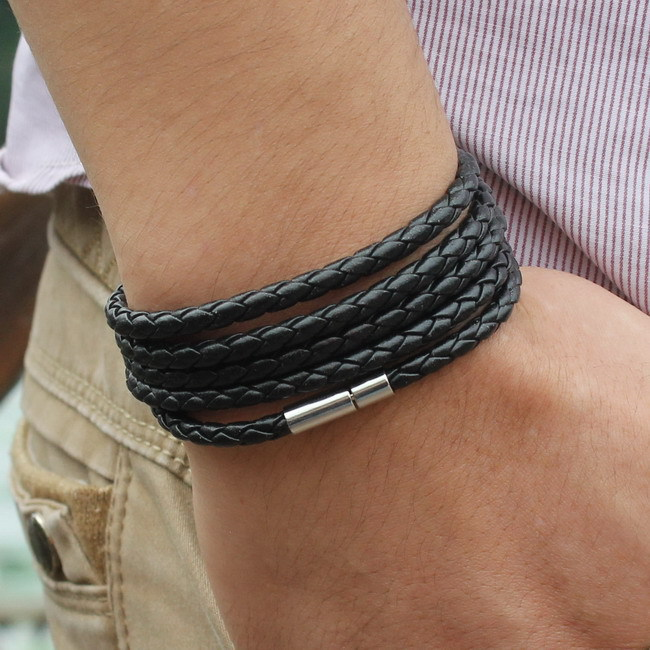091b4d50ae0 Popular Five Laps Leather Vintage Charm Bracelet Wristband Jewelry for Men  for sale in Jamaica | JAdeals.com