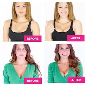 Image result for push up bra before and after