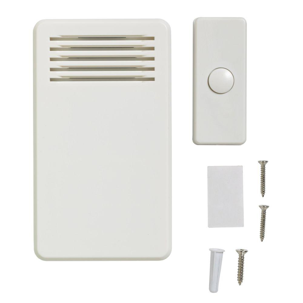 75 db wireless battery operated door bell kit with 1 push for 1 by one door chime