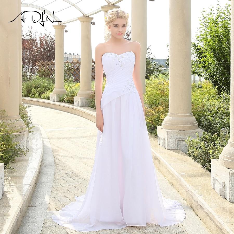 Sleeveless Sweetheart Applique Chiffon Lace Up Back Wedding Dresses