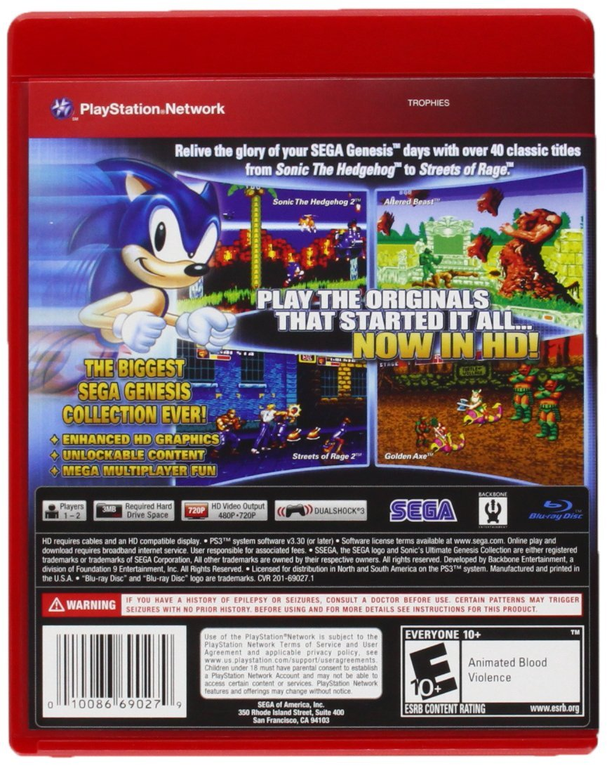 Sonic Games For Ps3 : Playstation ps sonic ultimate genesis collection for