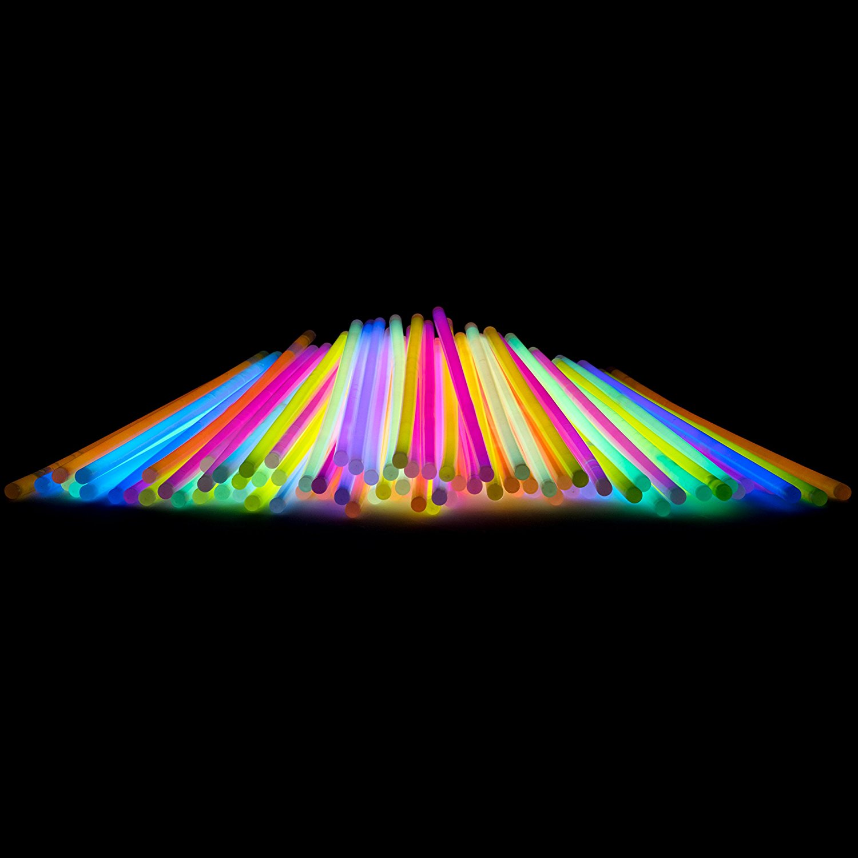 8 Bulk Glow Sticks Party Pack