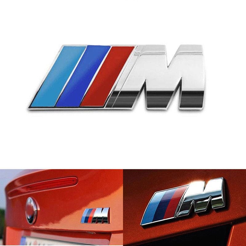 Bmw M Power Badge Motorsport Metal Logo Car Emblem Chrome Decal Fits