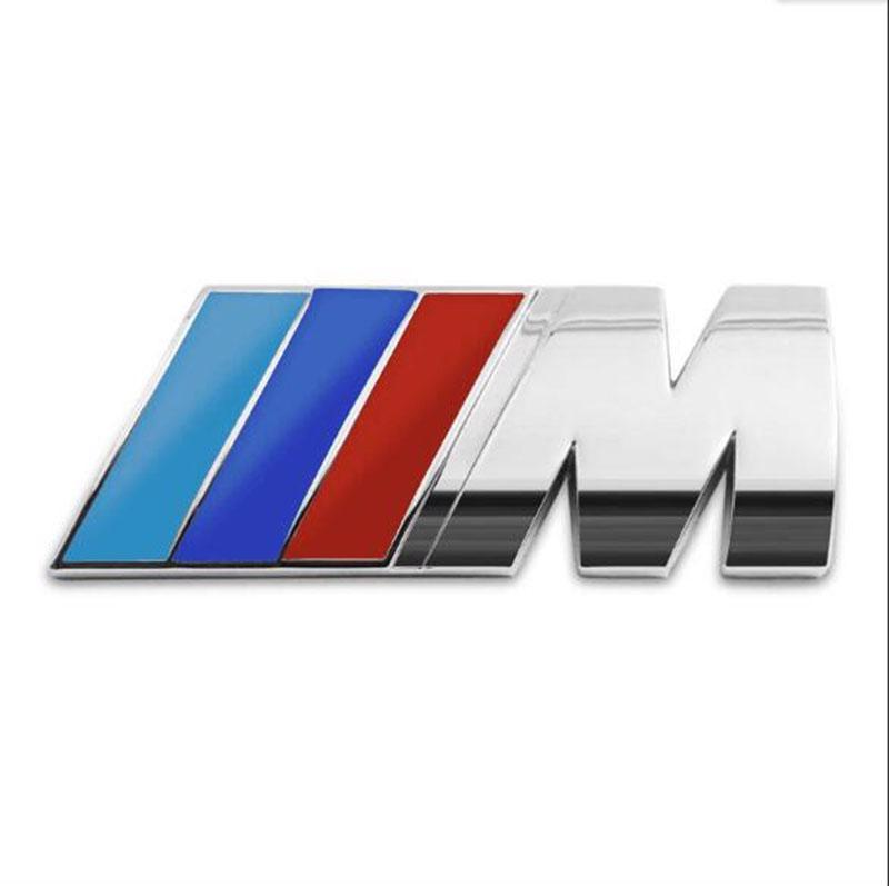 bmw m power badge motorsport metal logo car emblem chrome decal fits m3 m5 m4 m6 for sale in. Black Bedroom Furniture Sets. Home Design Ideas