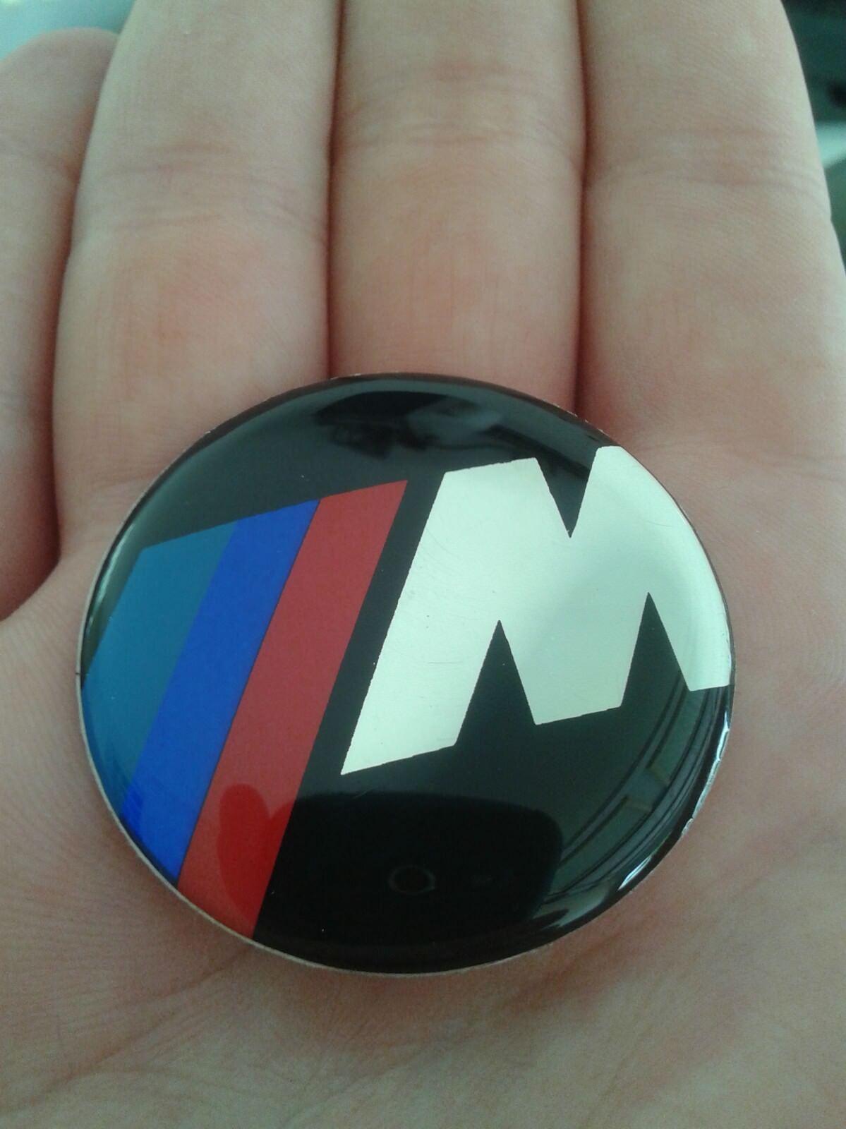 bmw m power steering wheel badge emblem sticker logo 45mm. Black Bedroom Furniture Sets. Home Design Ideas