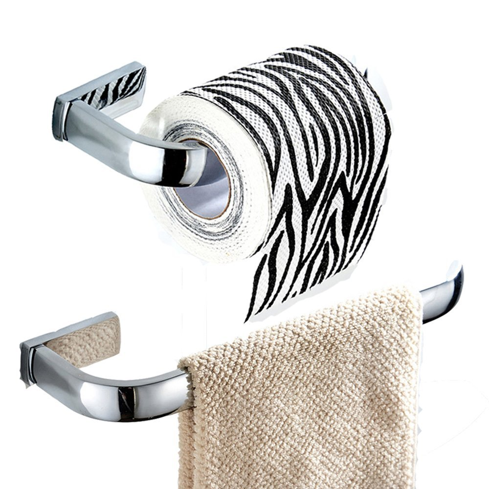 Bigbig Wall Mounted Home Brass Toilet Paper Holder And Towel Ring Bathroom Hardware Set Chrome Finish For Sale In Jamaica Jadeals Com