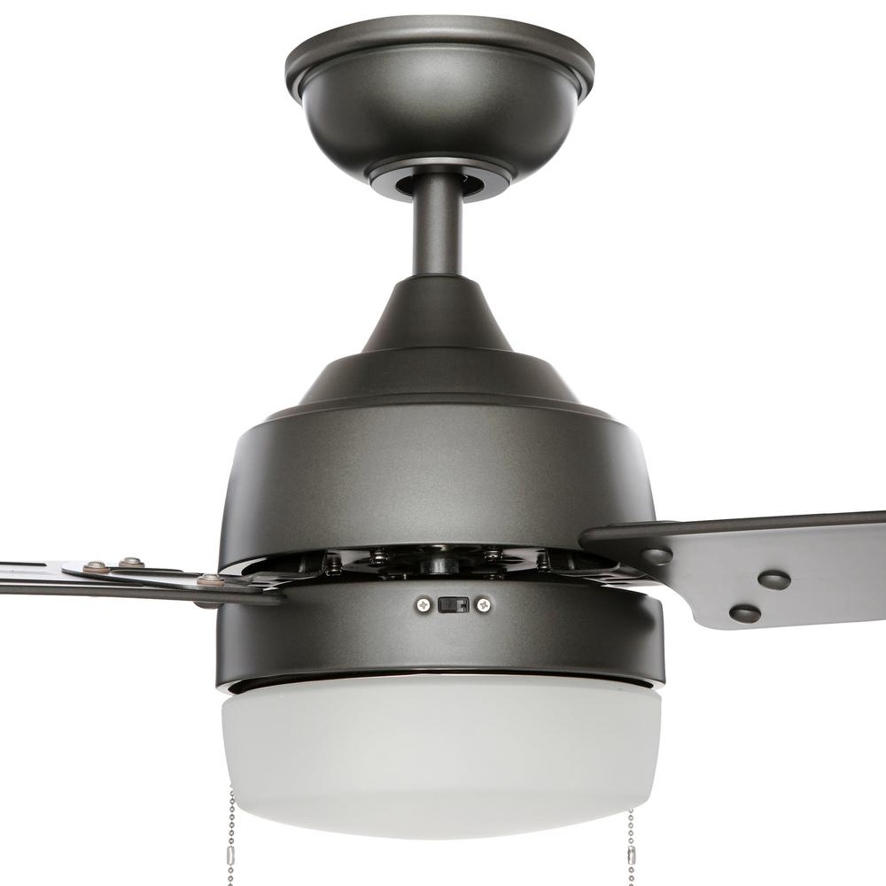 Carrington 60 In Brushed Nickel Ceiling Fan With Light