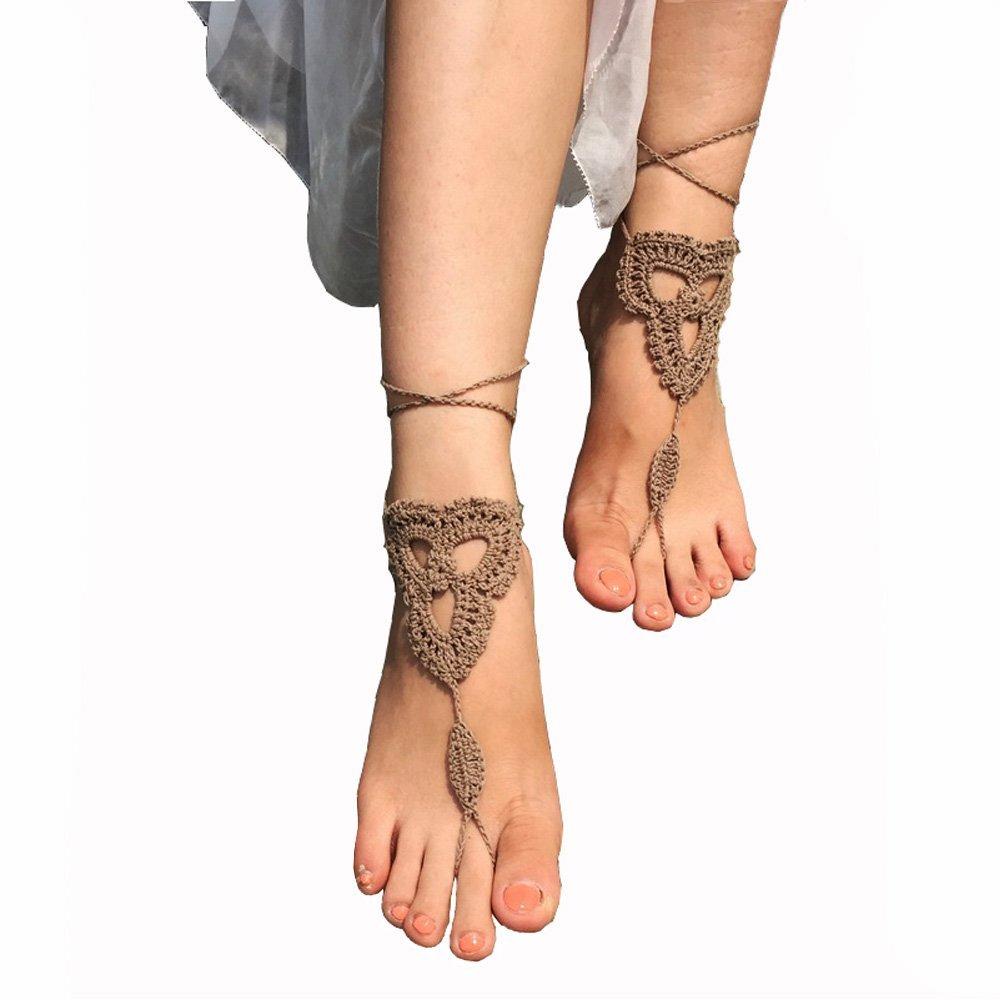 96e330db44d36 Crochet Barefoot Sandals