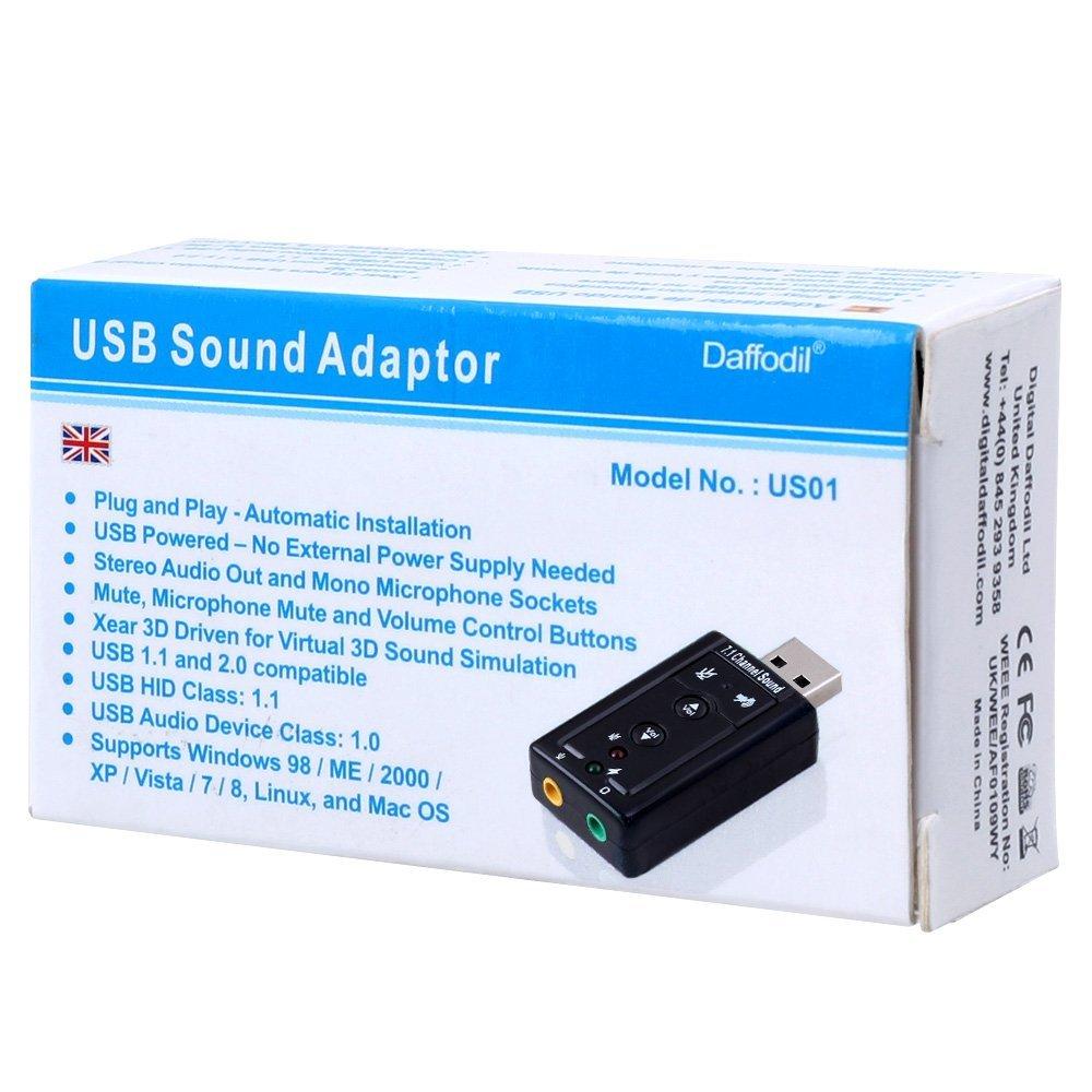 USB Sound Card 7 1 Channel