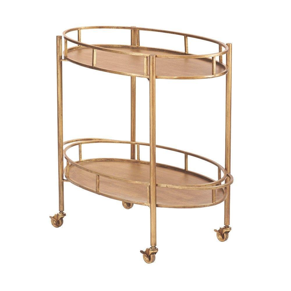 Eliza Gold Bar Cart For Sale In Jamaica
