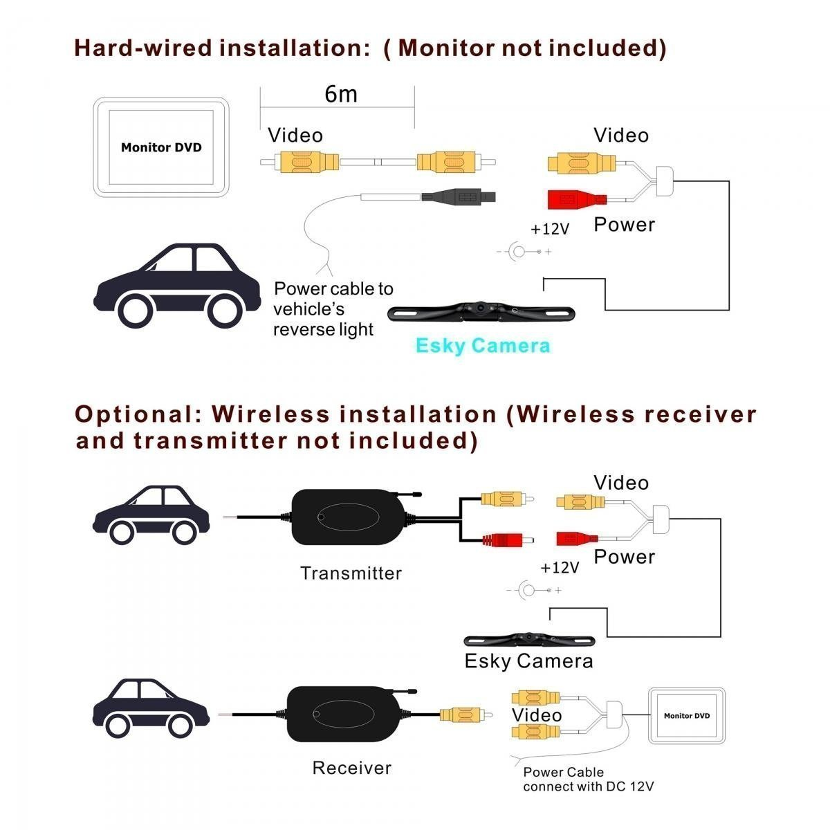 Camera Wiring Schematic Swann Security Diagram Vision On Car Reversing Backup Image Tft Wireless Auto