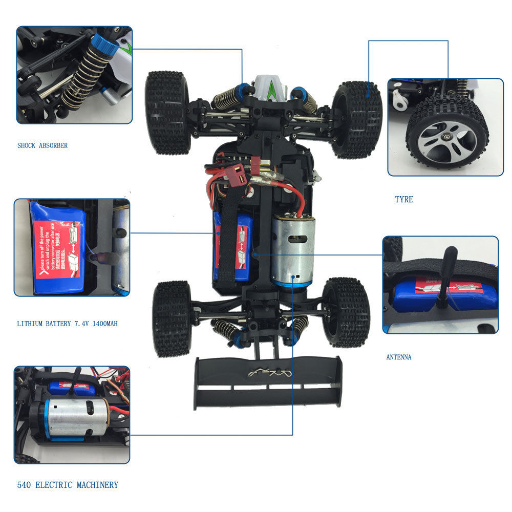 Fast Electric 45km H Remote Control Rc Toy Car 4wd 1 18