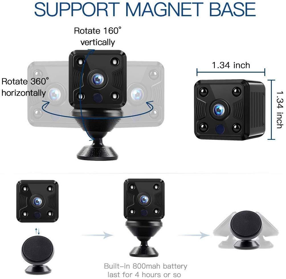 FREDI WiFi Camera Mini Wireless Small Camera 1080P Nanny Camera with Motion Detection for Home Office