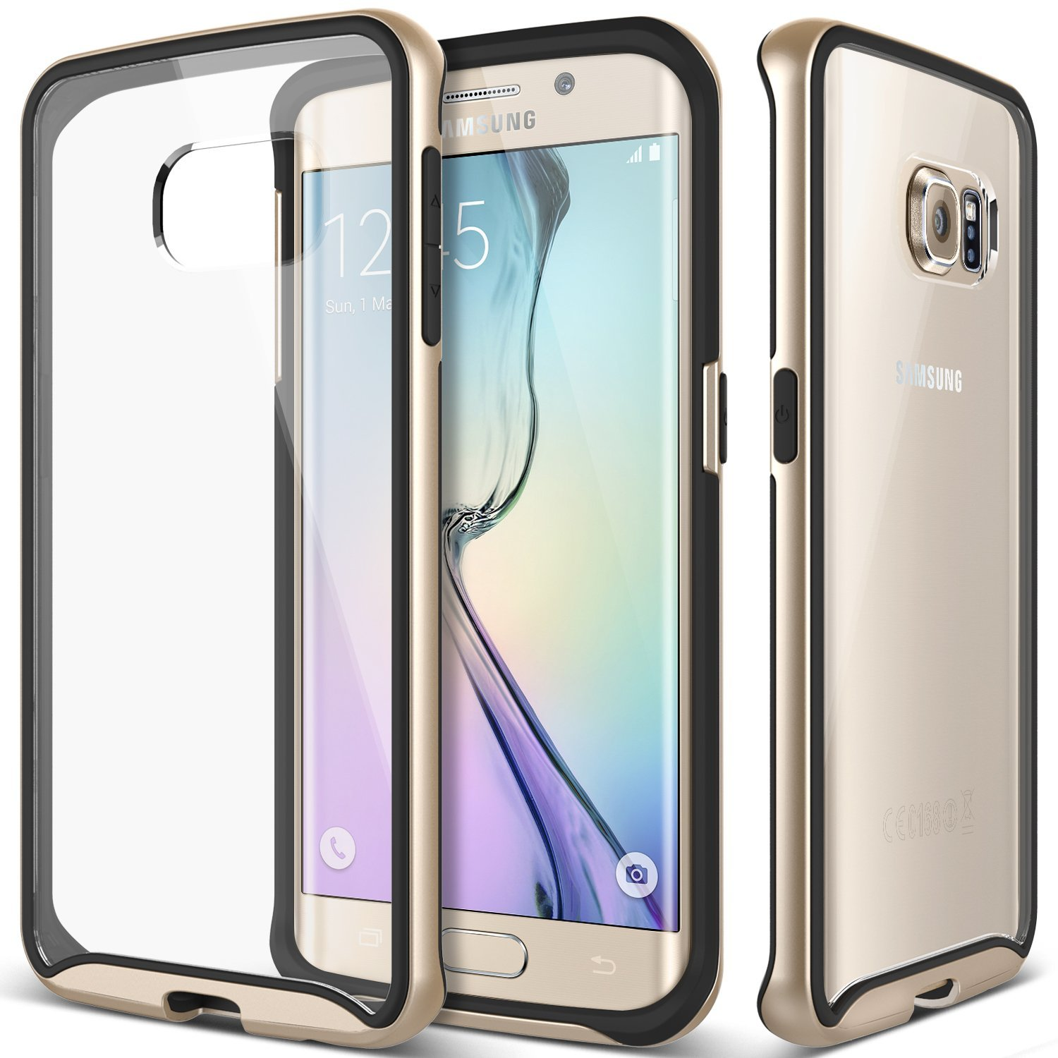 8b9ba1a16 Galaxy S6 Edge Scratch Resistant Clearback Case Gold