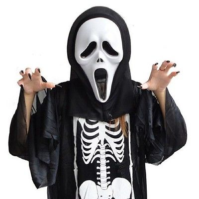 Ghost Face Creepy Scream Scary Movie Mask For Sale In