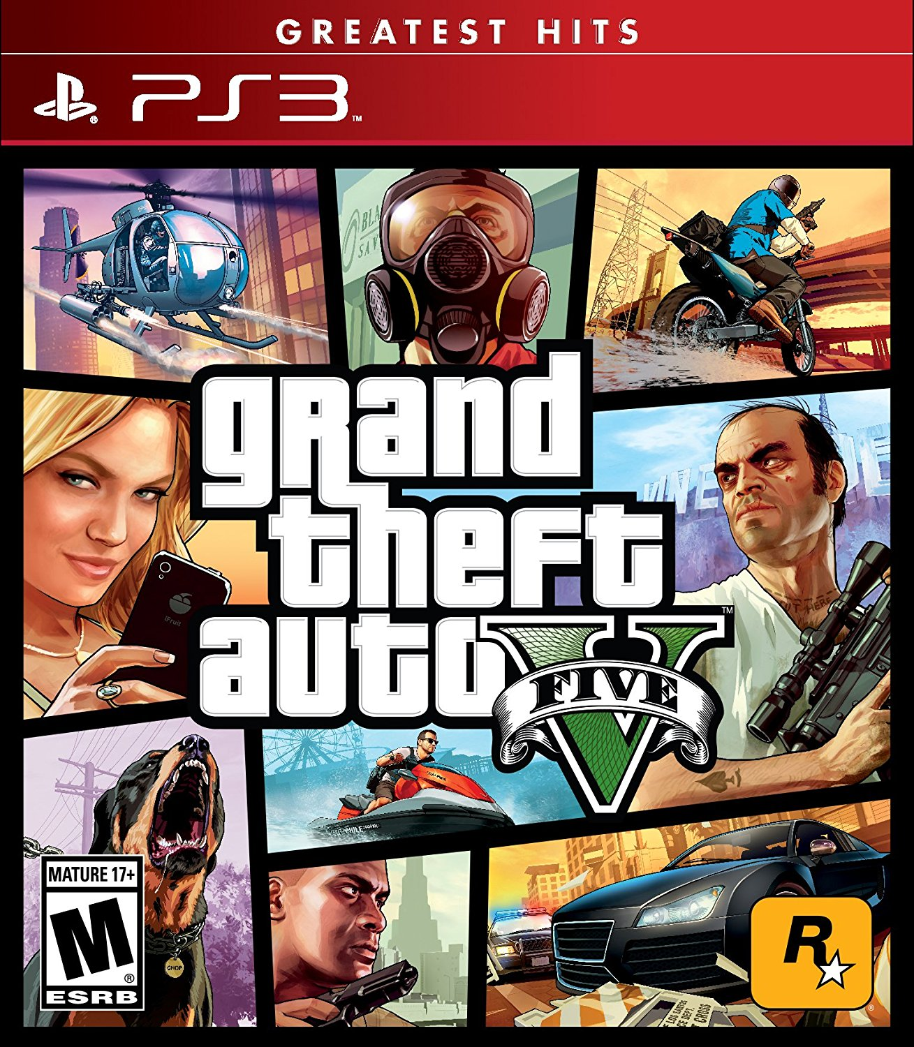 PlayStation 3 PS3 Grand Theft Auto V 5 Five for sale in ...