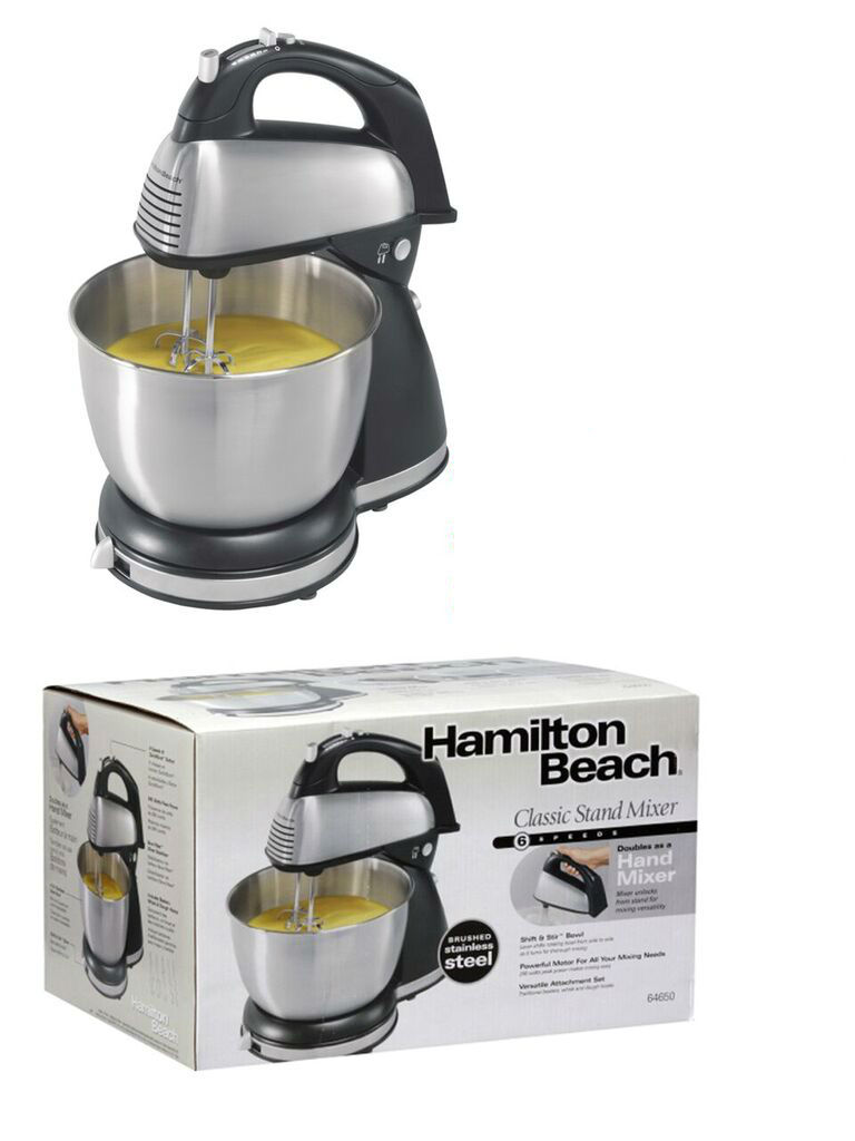 hamilton beach 6 speed classic stand mixer 64650 for sale in jamaica. Black Bedroom Furniture Sets. Home Design Ideas