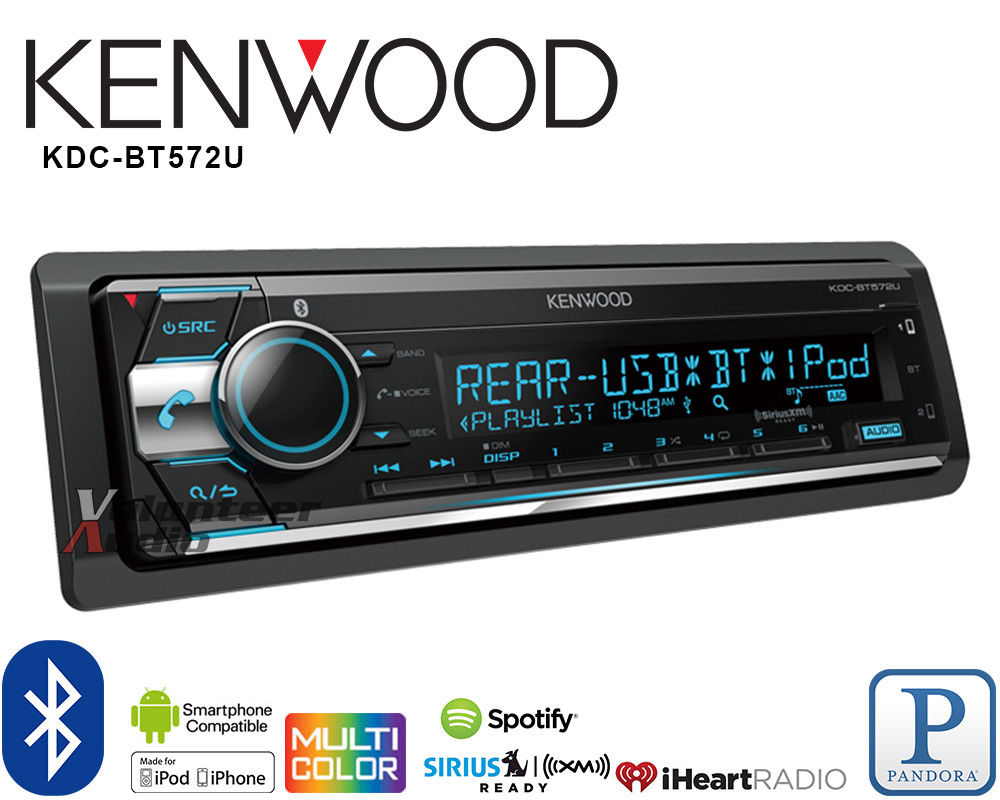 Kenwood Car Stereo Bluetooth Player Pandora Android iPhone Iheart USB AUX