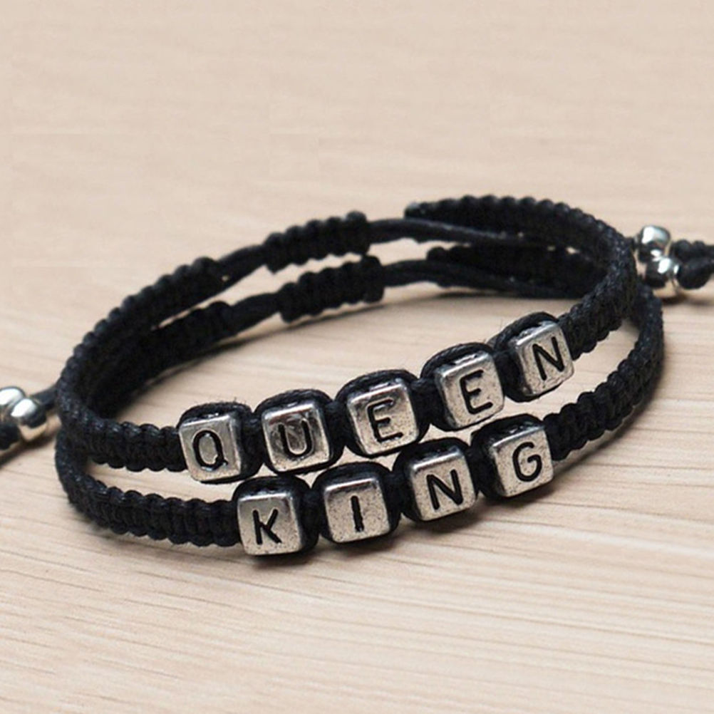 King And Queen Handmade Charm Bracelets