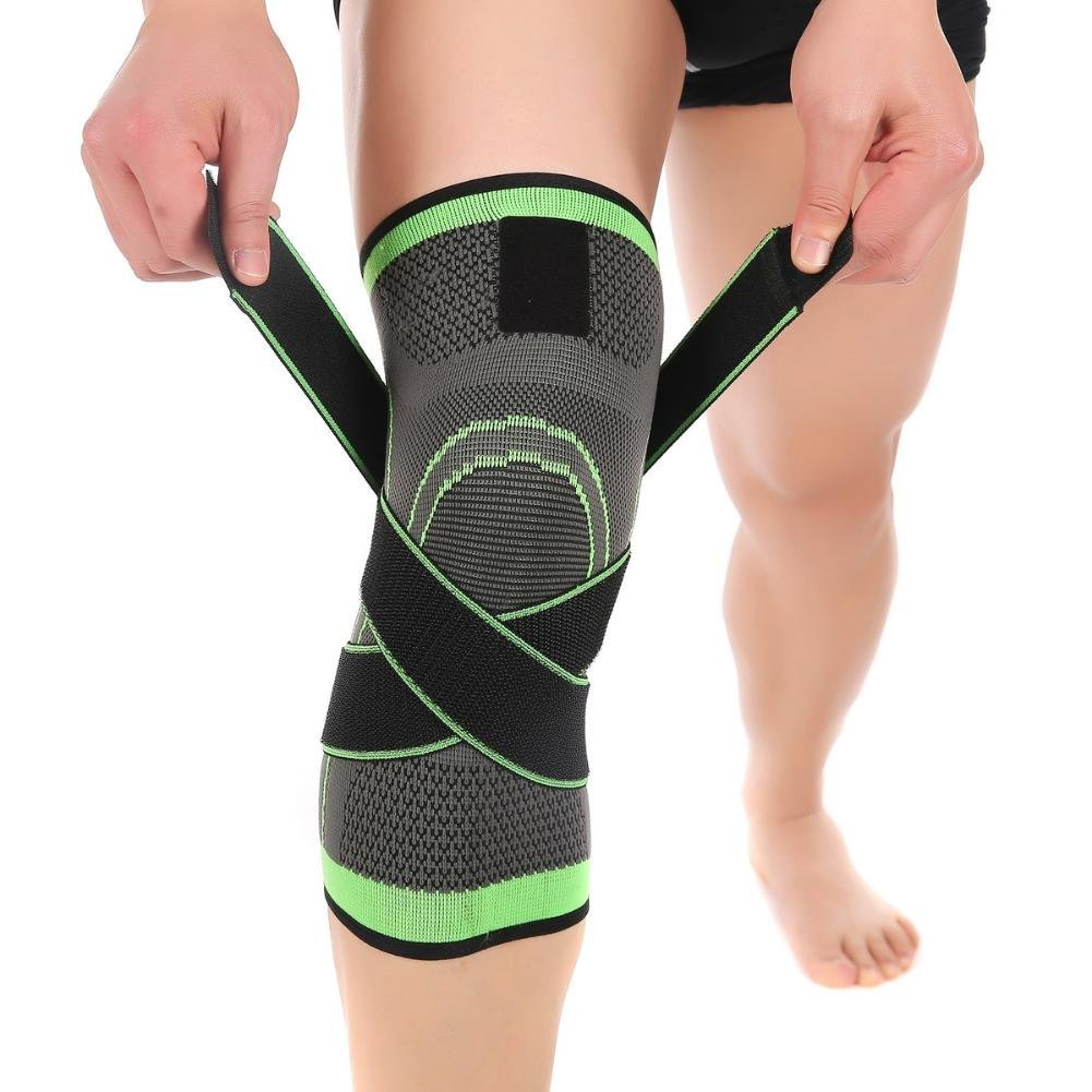 Knee Support Brace Sleeve with Adjustable Strap for Pain ...