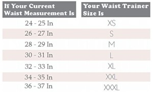 Latex Waist Trainer Long Torso (chart)