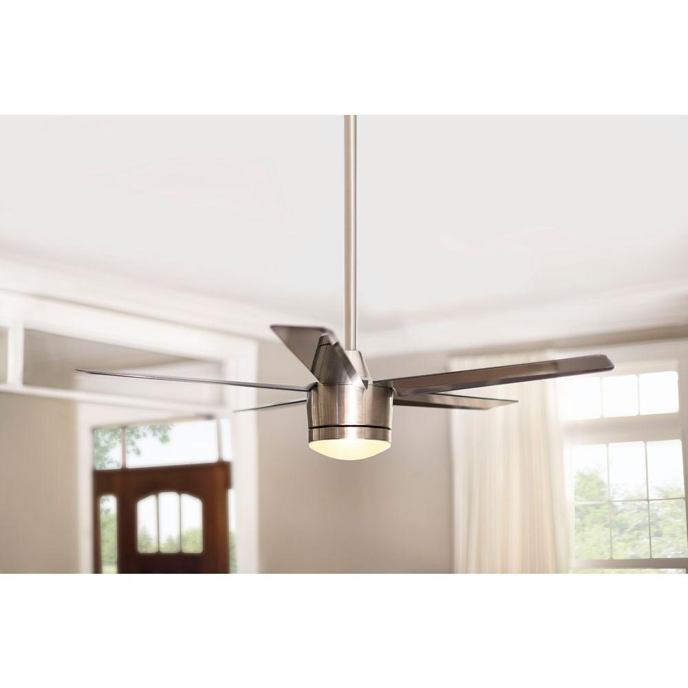 Merwry 52 In Led Indoor Brushed Nickel Ceiling Fan With