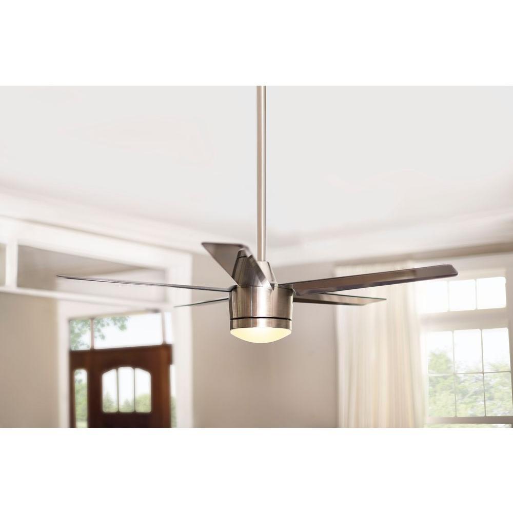 Merwry 52 in led indoor brushed nickel ceiling fan with light kit merwry 52 in led indoor brushed nickel ceiling fan aloadofball Choice Image