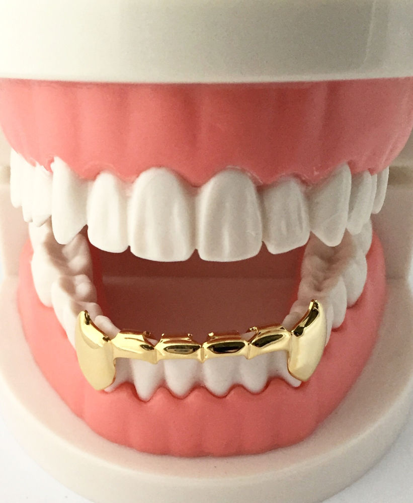 Custom 14k Gold Plated Teeth Grill Caps (Bottom Grill ...