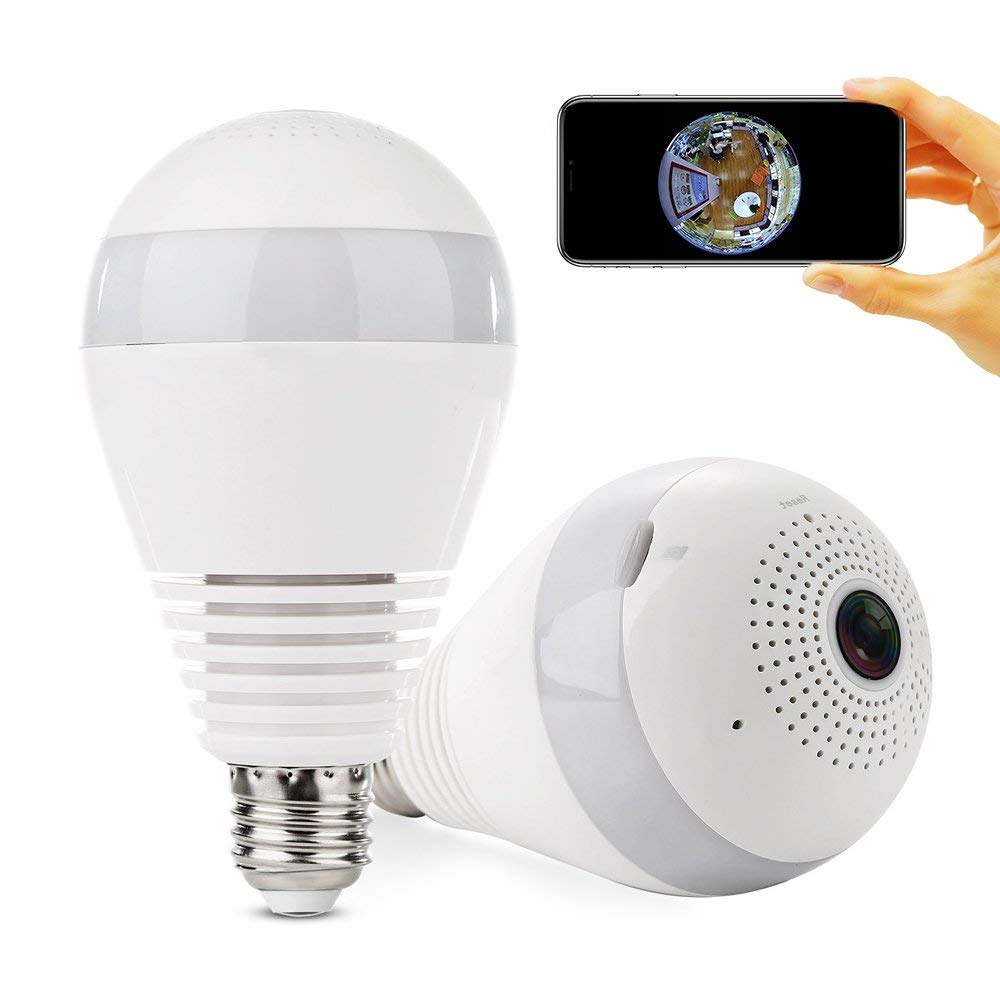 panoramic smart wireless wifi led light bulb mini camera for sale in jamaica. Black Bedroom Furniture Sets. Home Design Ideas
