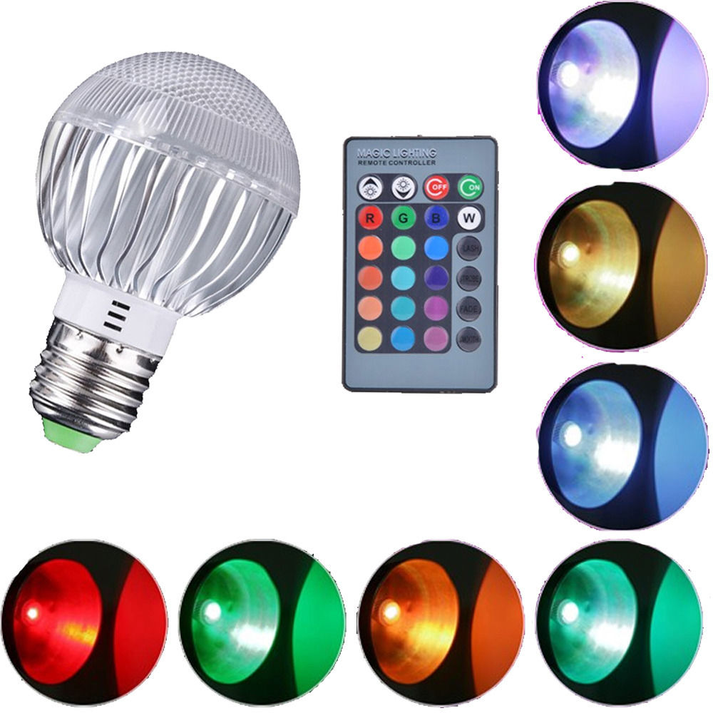 Rgb Led Color Changing Light Bulb With Remote Control For Sale In