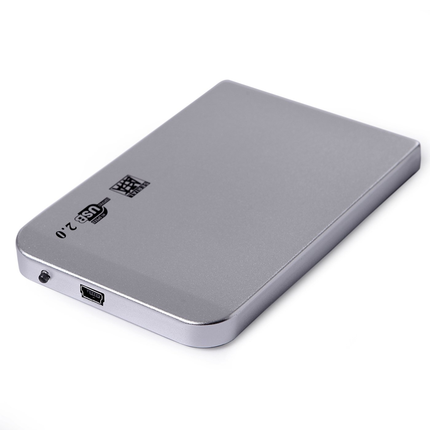 SATA External Hard Disk Drive (HDD) 2.5 Metallic Enclosure ...