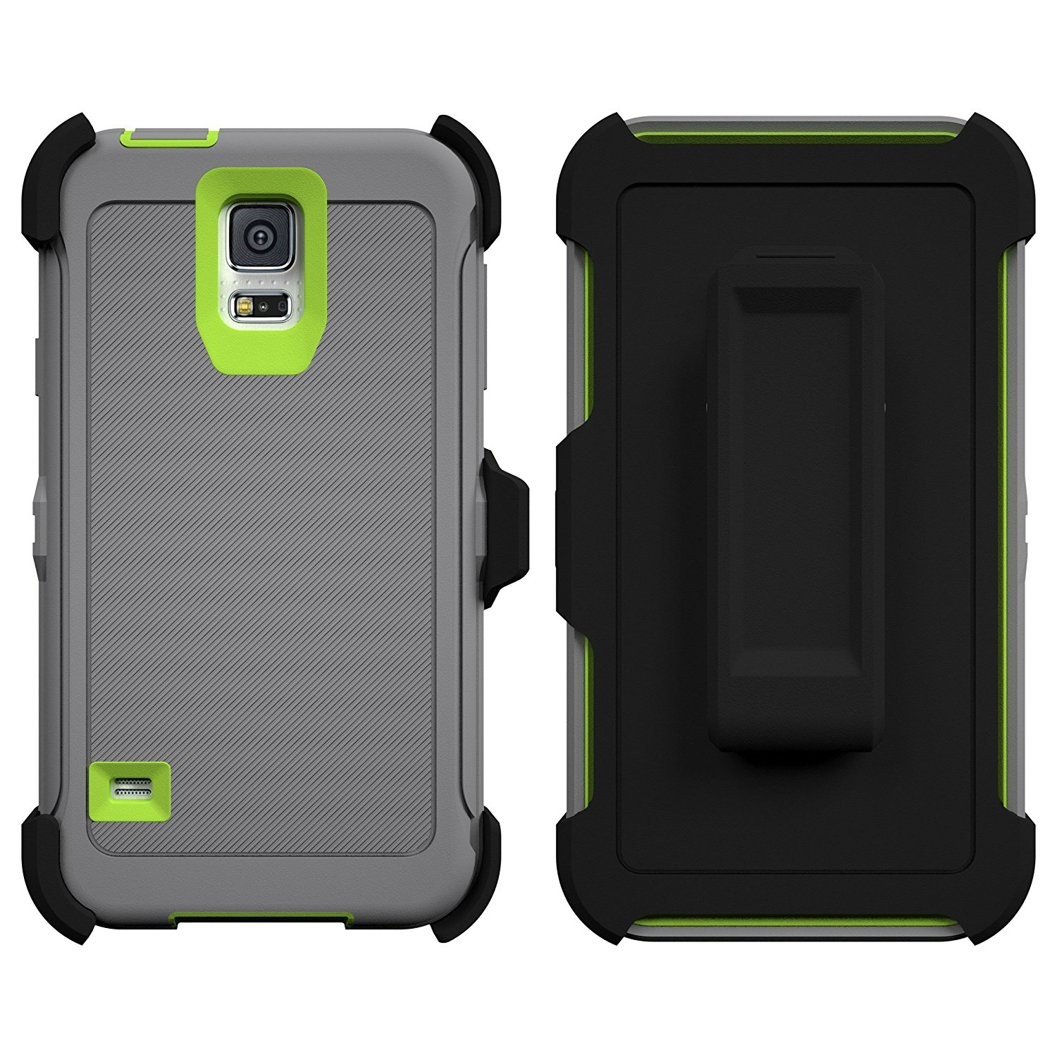 new arrival b12ab 8e91a Samsung Galaxy S5 Armor Series Shock Proof Case with Built in Screen  Protector - Holster & Belt Clip