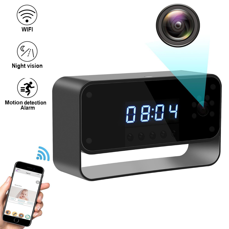 Security Spy Cameras Hidden: Wireless HD 1080P Hidden Security WIFI Spy Camera Clock