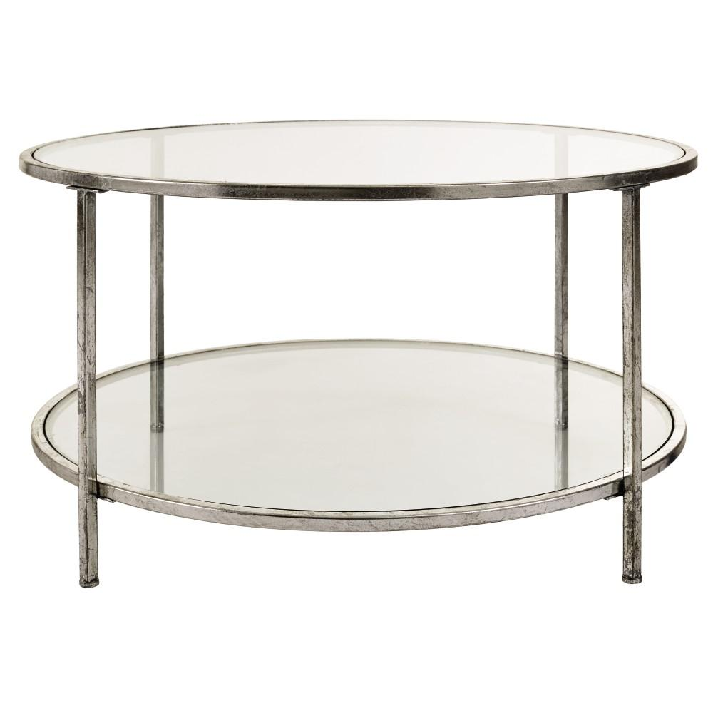 Bella Glass Aged Silver Coffee Table For Sale In Jamaica