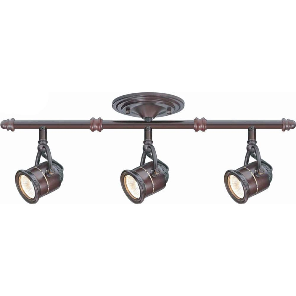 Hampton Bay 3 Light Antique Bronze Ceiling Bar Track