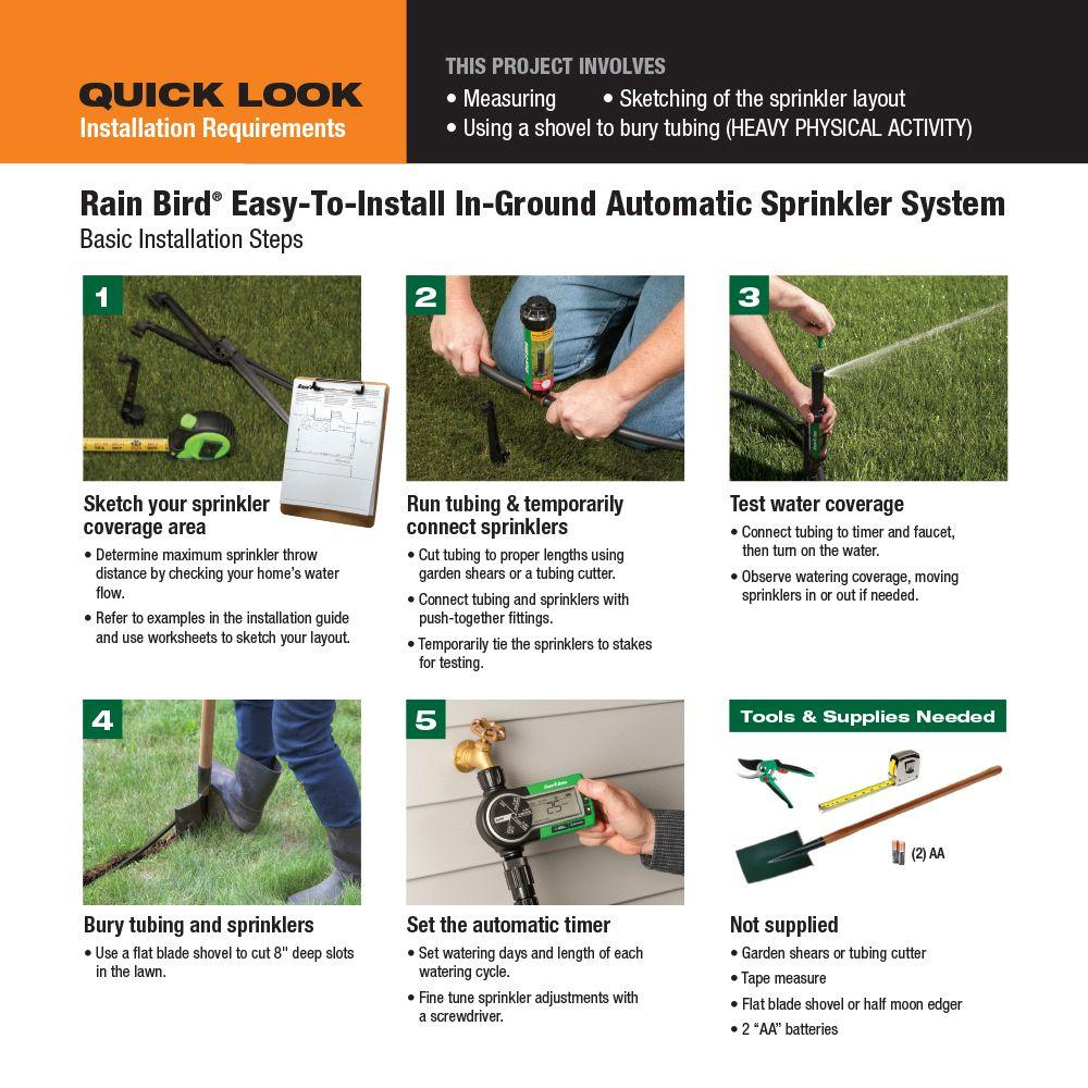 Rain Bird Easy To Install In Ground Automatic Sprinkler System