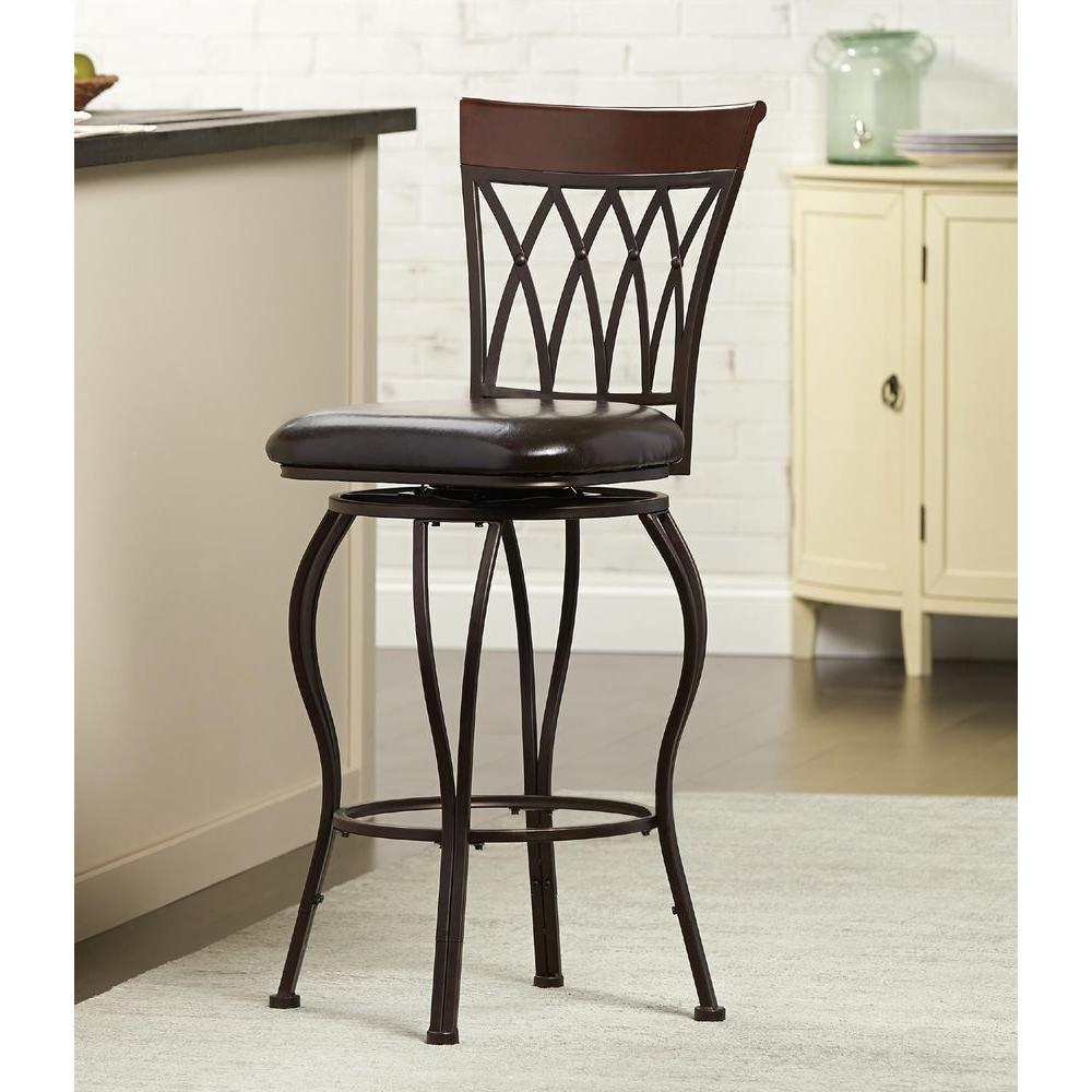 Home Decorators Collection Clic Metal Swivel Bar Stool