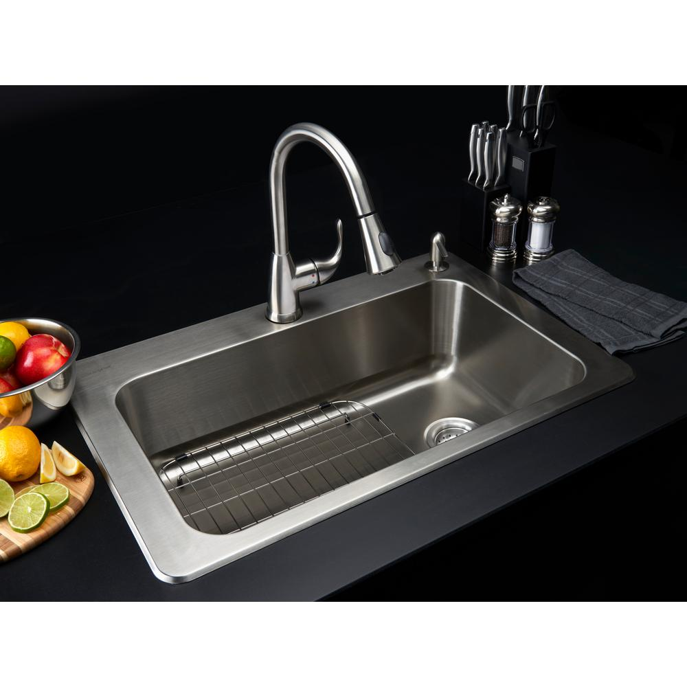 glacier bay kitchen sinks glacier bay all in one drop in stainless steel 33 in 2 3756
