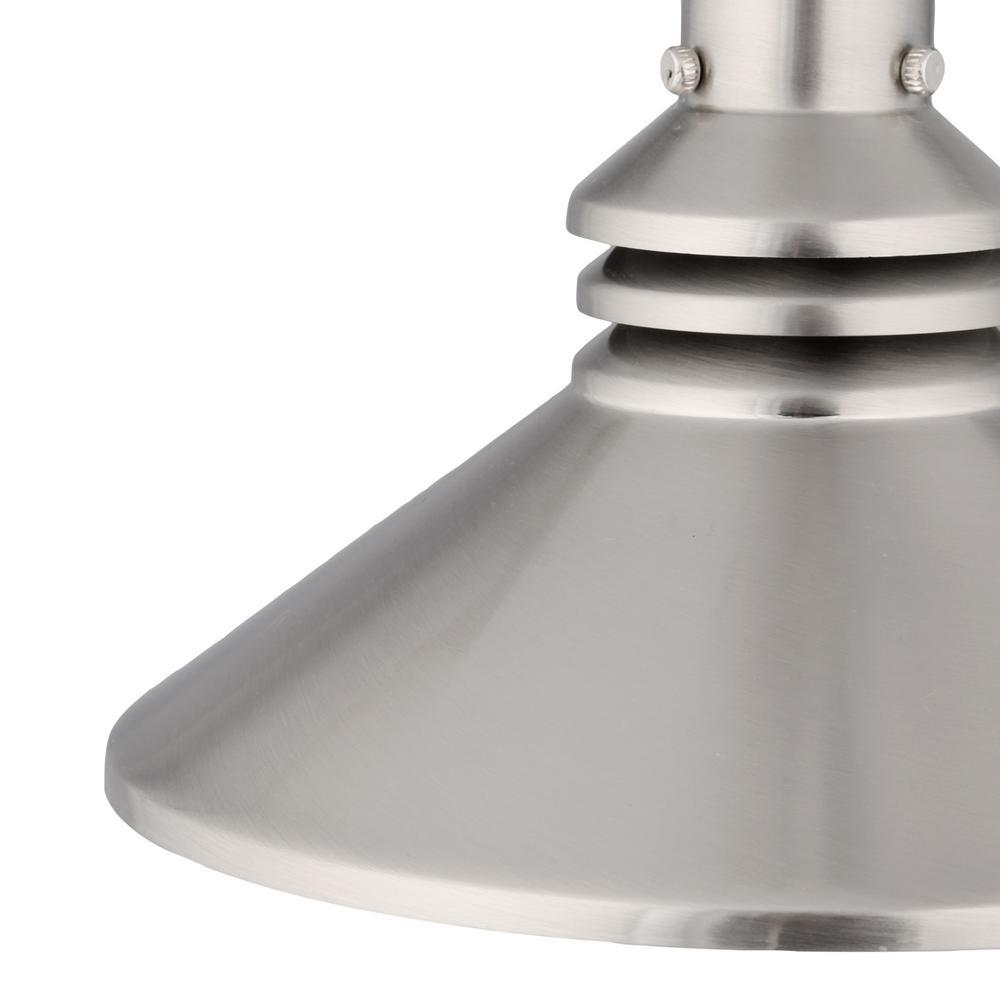 Schoolhouse Pendant Track Lighting: Hampton Bay 86 In. 1-Light Brushed Nickel Pendant Track